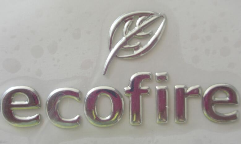 3d soft sticker adhesive logo name plate silver chrome sign